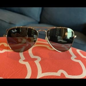 Ray Ban Jr. Silver Aviators, kids size or sm adult